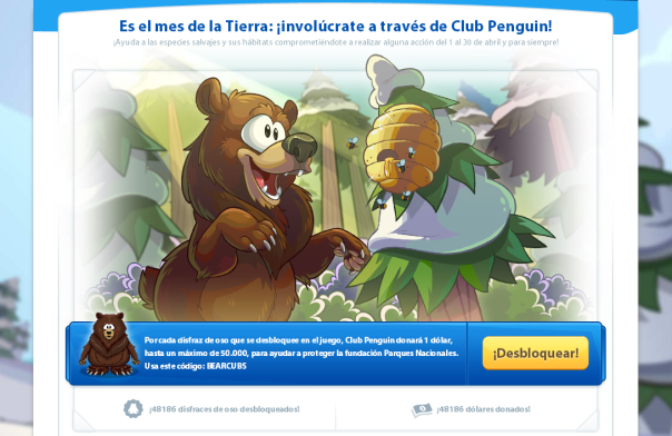 Club Penguin Dia de la Tierra