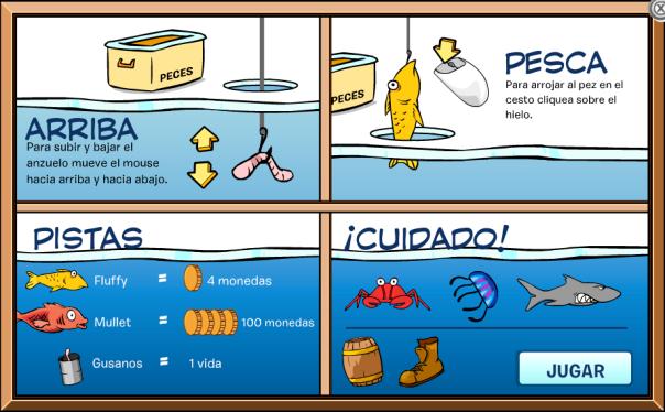 Pesca en Hielo - Instrucciones