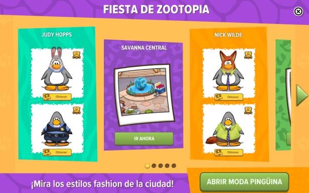 Zootopia - Menú